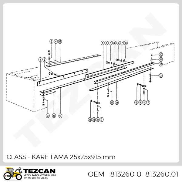 CLASS KARE LAMA 25x25x915 mm