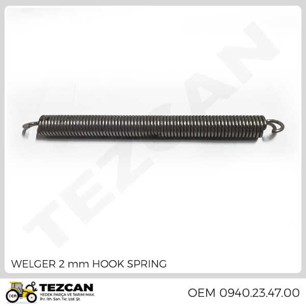 WELGER 2 mm HOOK SPRING