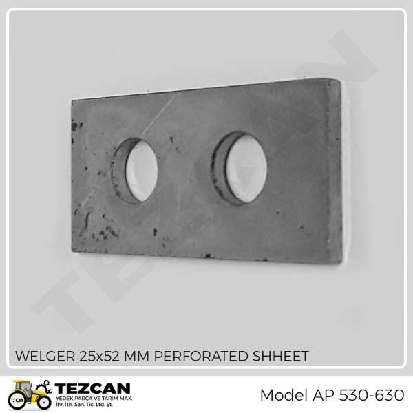 WELGER 25x52 MM PERFORATED SHHEET