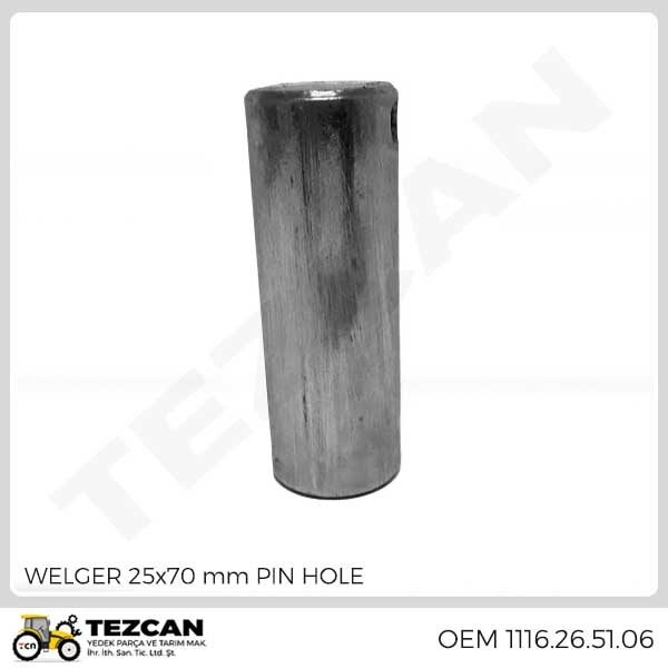 WELGER 25x70 mm PIN HOLE
