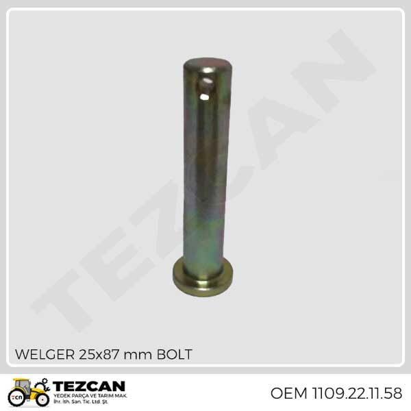 WELGER 25x87 mm BOLT