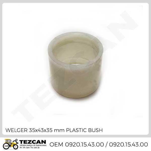 WELGER 35x43x35 mm PLASTIC BUSH