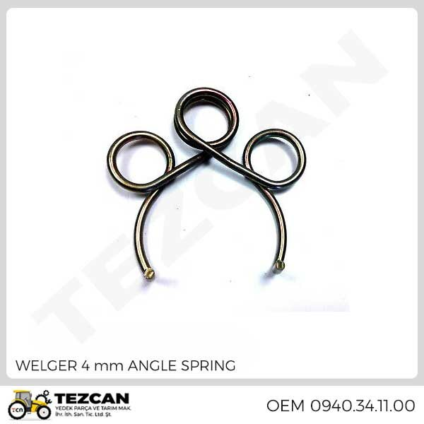 WELGER 4 mm ANGLE SPRING