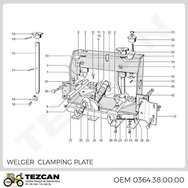 WELGER CLAMPİNG PLATE