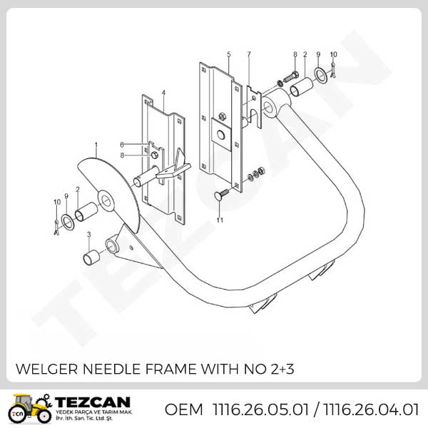WELGER NEEDLE FRAME WITH NO 2+3