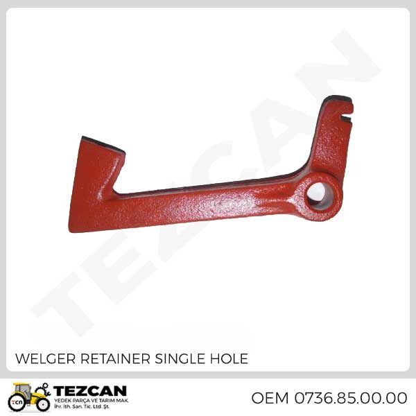 WELGER RETAINER SINGLE HOLE