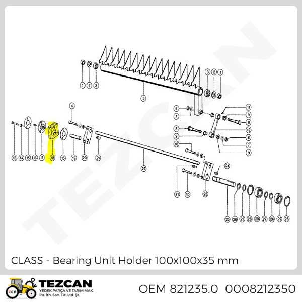 Bearing Unit Holder 100x100x35 mm