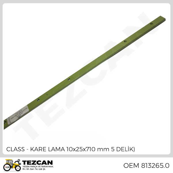 KARE LAMA 10x25x710 mm 5 DELİK