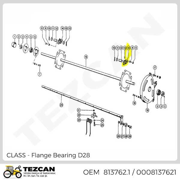 Flange Bearing D28